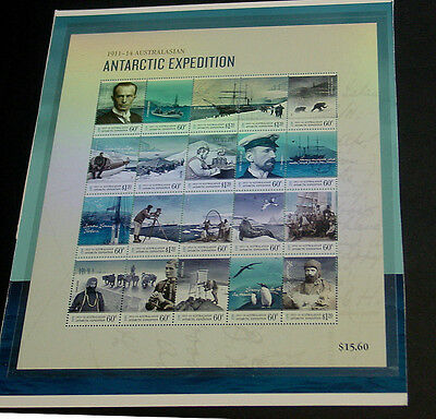 2014 Australian Antartic Expedition miniature sheet with hologram.