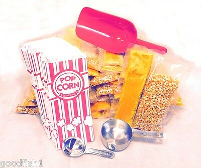 Popcorn Machine Starter Kit for 8 oz Popper, Scoop Bags Oil Packs FREE SHIPPING
