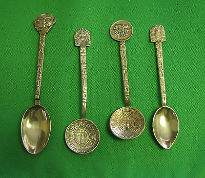 lots of 4 Souvenir spoons of Mexico