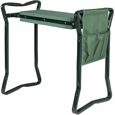 BCP Foldable Garden Kneeler and Seat Wih Bonus Tool Pouch Portable Stool EVA Pad