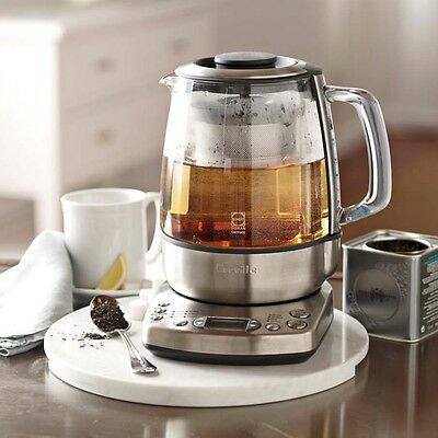 Breville BTM800XL Steel One-Touch Auto Tea Maker Brew Brewer Hot Water Kettle