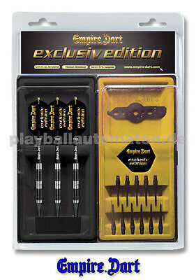 Dart-Set Empire Exclusiv Edition Black Titanium 18g - Dartpfeile Spitzen Flight