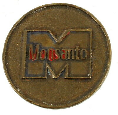 Vintage Monsanto Collectible Agriculture Advertising Token Coin M Logo & Text