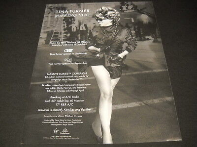 TNA TURNER 2 Tv Specials plus 60 minutes 1996 PROMO DISPLAY ADVERT mint cond