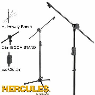 Hercules MS533B Pro boom microphone stand hide away 1 hand trigger operation