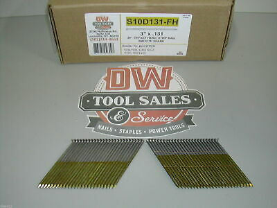 "10d 3"" Inch x 131"" Framing Nails 28 Degree Off Set Full Round Head (2,500)"