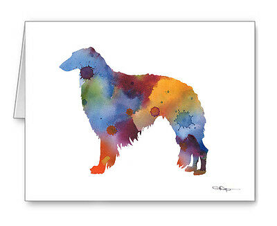 BORZOI Note Cards With Envelopes