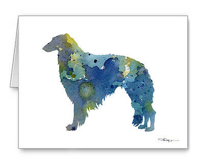 BLUE BORZOI Note Cards With Envelopes
