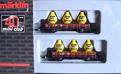 New Marklin 82100 Mini Club Z Gauge Db 2 Wagon Stake Car Pack & Oil Containers