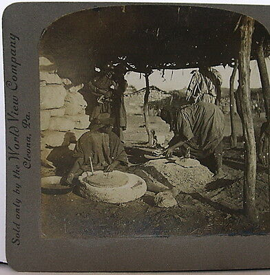 Women of Jericho Grinding Meal & Baking Unleavened Bread Palestine copyrgh 1905 • CAD $18.90