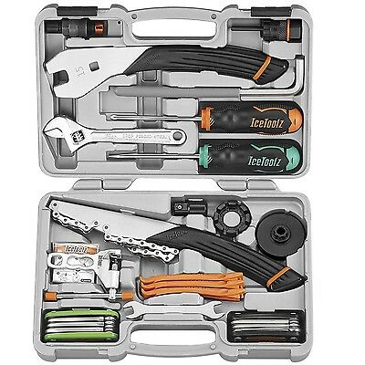 NEW IceToolz Ultimate Bicycle/Bike Tool Kit - 31-Piece Kit with Case 82A8