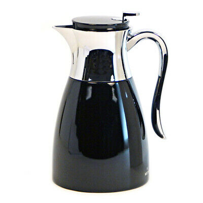 Service Ideas 1.0 Liter Stainless Steel Vacuum Insulated Carafe Black WES1BL