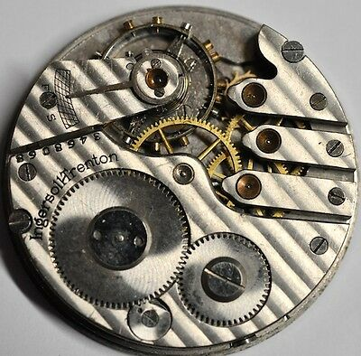 Ingersoll Trenton Pocket Watch Movement For Parts/repairs#w549