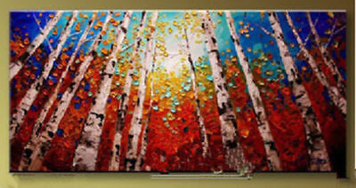No Framed MODERN Abstract Canvas Art Oil Painting wall decorate - Tree