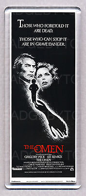 THE OMEN movie poster LARGE 'WIDE' FRIDGE MAGNET - HORROR CLASSIC!