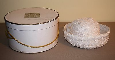 Vintage Bonwit Teller Hat Box And Beautiful Miss Alice Hat