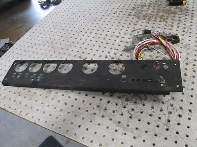 Nascar Carbon Fiber Dash Face With New Ingnition Harness A/b In Place