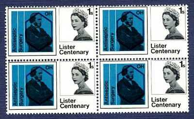 GREAT BRITAIN - #427-1965 Centenary of Jospeh Lister-block of 4-MNH