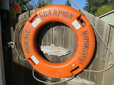 30 Inch Authentic Used Life Preserver Ring Saver Float Buoy Bouy (#1386)