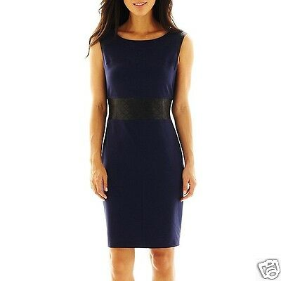Worthington Faux-Leather Detail Dress Size 10 New Msrp $70.00
