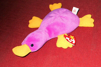 1993 Ty Beanie Baby -  Patti the Platypus with Tags -  Rare - Great Shape!