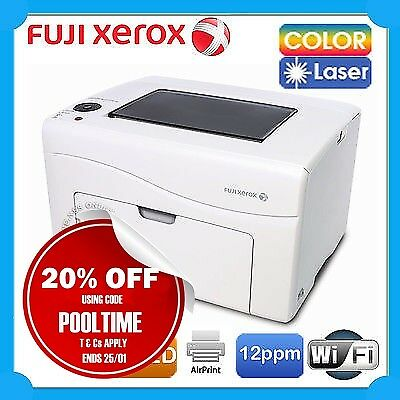 Fuji Xerox DocuPrint CP116w Wireless S-LED Color Laser Printer+AirPrint (WHITE)
