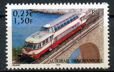 Stamp / Timbre France Neuf N° 3413 ** Chemin De Fer / Train Autorail Panoramique