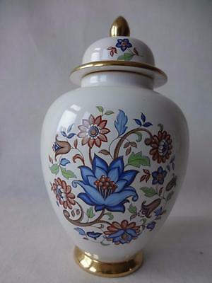 Carlton Ware Baluster Shape Aquilegia Bouquets Ginger Jar & Cover 7""
