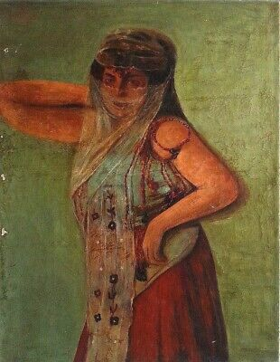 Unknown Unidentified Middle Eastern: Belly Dancer 1917/Lebanese Egyptian Vintage