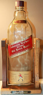 Johnnie Walker Red Label Old Scotch Whisky OCT 1974 133.33 oz 4L Swing Cradle