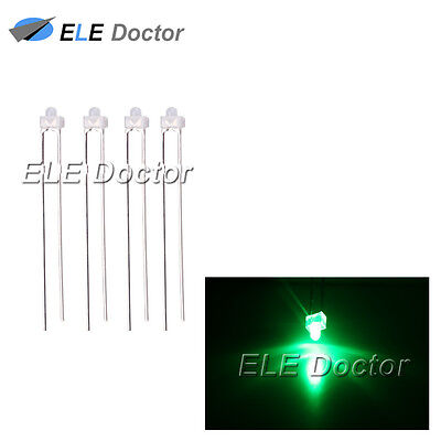 100pcs New 2mm Green Diffused LED Round Top Leds Light Green Lens Free Shipping