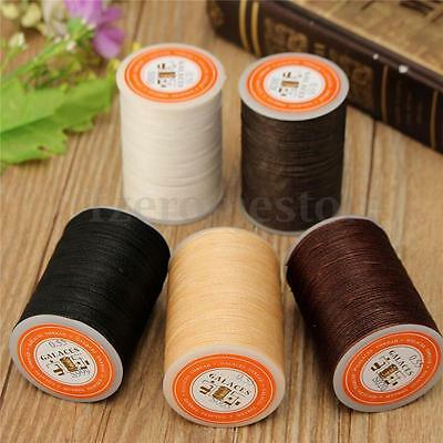 115m Dacron Wax Line Round DIY Leather Craft 0.55mm For Shoe Sewing HOT