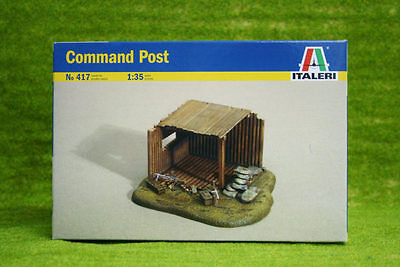 Italeri 1:35 Scale WWII COMMAND POST for Dioramas 417