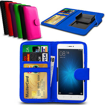 Clip On PU Leather Flip Wallet Book Case Cover For Xiaomi Redmi 2