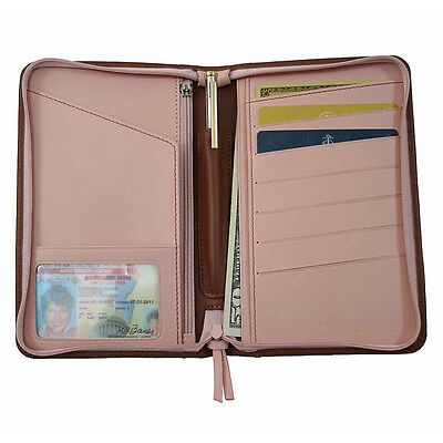 Royce Leather Passport Travel Wallet 2 Colors