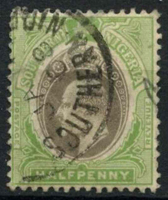 Southern Nigeria 1904-9 SG#21, 1/2d Grey-Black & Pale Green KEVII Used #D19009