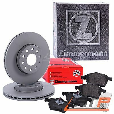 Zimmermann Brake Discs Vented Ø285+ Pads Front Opel Vauxhall Signum Vectra C Mk2