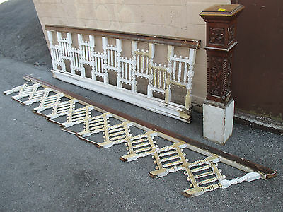 ~ Antique Victorian Staircase Oak Carved Newel Post ~ Architectural Salvage ~