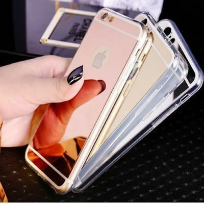 Slim Luxury Ultra-thin Soft Silicone TPU Mirror Case For Apple iPhone 7 8 Plus X