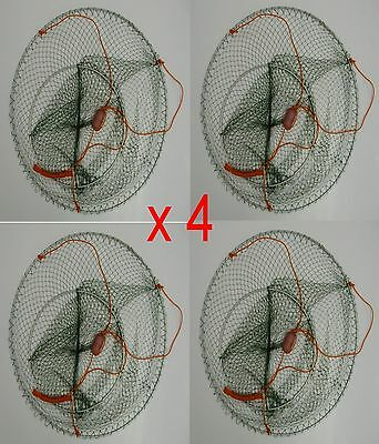 Yabbie 2 Ring Drop Net  x 4 - Brand New