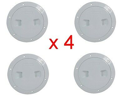 """Standard Inspection Ports ABS Plastic - 6"""" White x 4"""