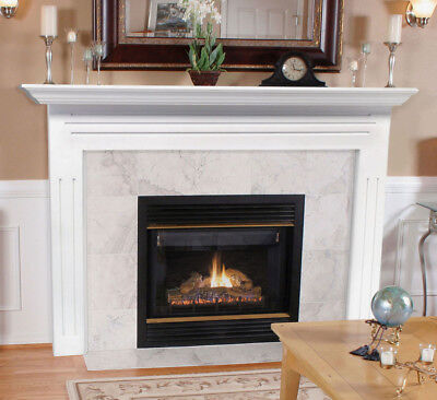 Pearl Mantels 510-48 Newport MDF Fireplace Mantel in White Finish, Ready to Hang