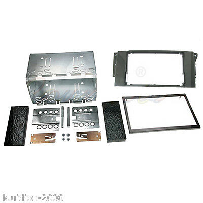 CT23LR02A LAND ROVER DISCOVERY 2005 to 2009 BLACK DOUBLE DIN FASCIA ADAPTER KIT