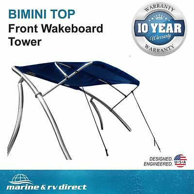 New Wakeboard Tower Boat Bimini Top w/Sunbrella® Canvas & Stainless Steel Frame