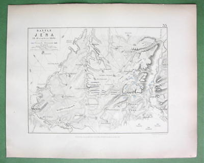 GERMANY Jena & Environs & Battle of 1807 Napolleon - 1848 Fine Quality Map