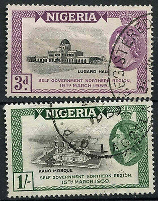 Nigeria 1959 SG#83-4 Attainment Of Self Governemnt Used Set #D19183