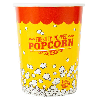 Case of 100 Popcorn Cups 32 oz, Bucket Cup Tub FREE SHIPPING