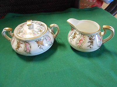 Outstanding Collectible Vintage Handpainted NIPPON Sugar and Creamer M Mark