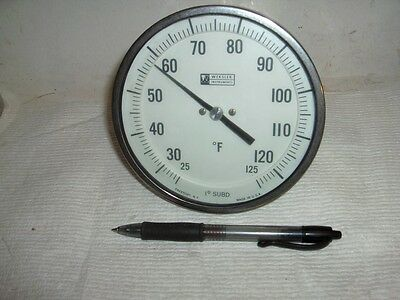 """NEW Weksler 5"""" od 25 to 125° F Stainless Steel Dial Thermometer 1/2"""" NPT"""