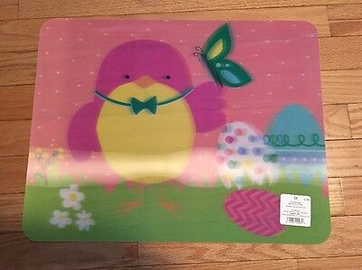 NWT Set Of 4 Easter Vinyl 3-D Placemats - Chick W/Eggs